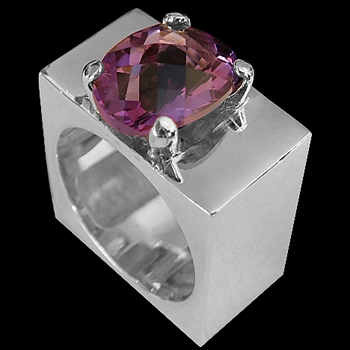 Amethyst and Sterling Silver Rings MR1114