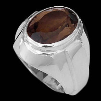 Men's Jewelry - Smokey Quartz and .925 Sterling Silver R977