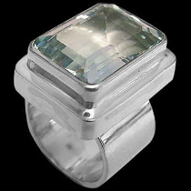 Topaz and .925 Sterling Silver Ring - MR02