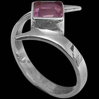 Amethyst and Sterling Silver Rings MR23