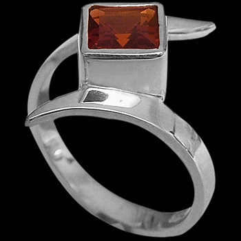 Garnet and .925 Sterling Silver Rings MR23fga