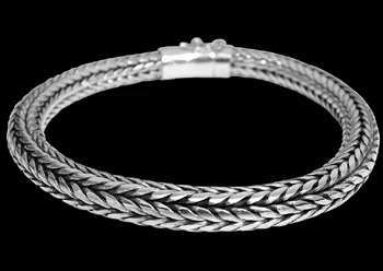Mens Jewelry - .925 Stelring Silver Bracelets B459 - 8mm - Security Clasp