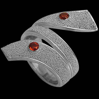 Garnet and .925 Sterling Silver Rings R697rndfga