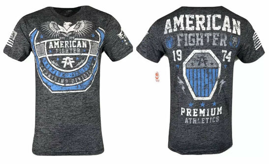 AMERICAN FIGHTER Mens T-Shirt CHESTNUT Premium Athletic Biker MMA Gym 1A