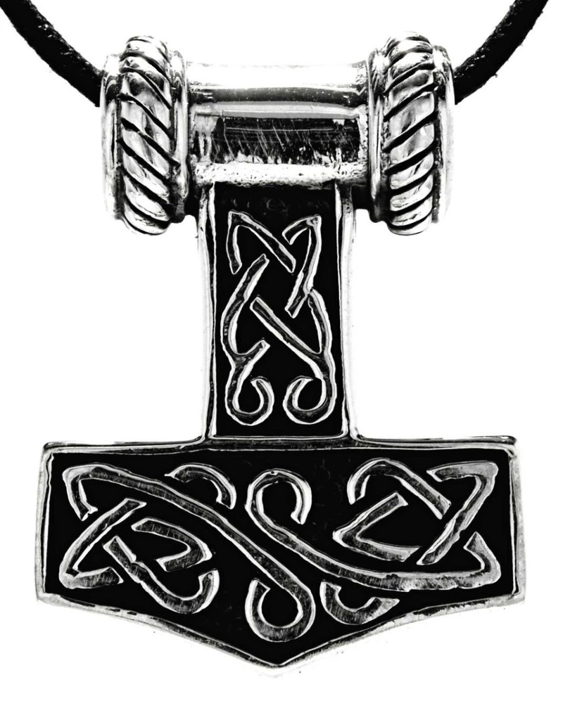 Details zu Thorshammer Thor Hammer Odin Thors Wikinger Thorhammer Silber Anhänger 243