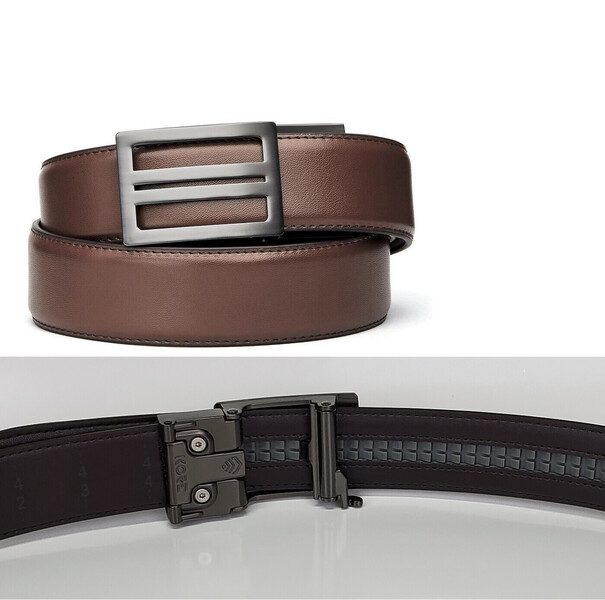 Kore Essentials X1 Gunmetal Brown Leather Micro Adjust Gun Belt Size 24 44 Ebay I would suggest this even as a regular i have to say kore essentials belts are made with high quality materials, the locking system on the buckle works great without deforming the belt itself. ebay
