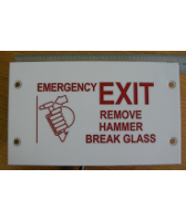 EXIT1 - ADR44.9.5.2 Emergency Exit Sign Type 1