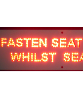 SEATBELTS - Fasten Seat Belts Whilst Standing Sign
