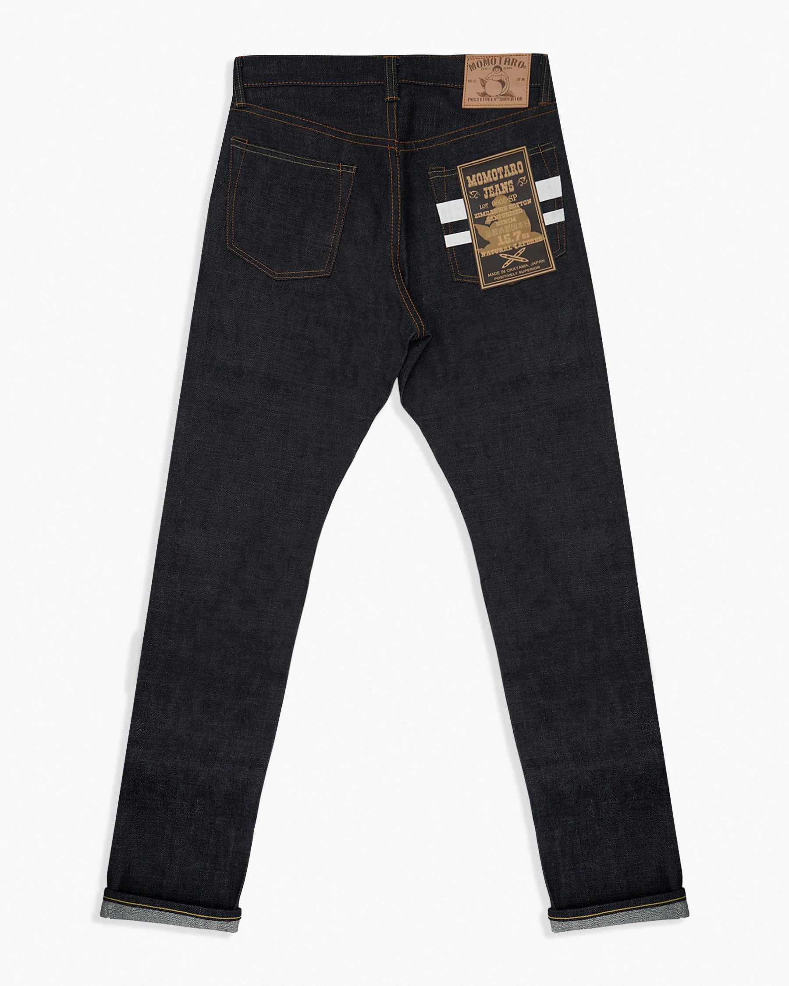 Blac 15.7oz Zimbabwe Cotton Selvedge Denim Momotaro Tight Tapered Mens Jeans