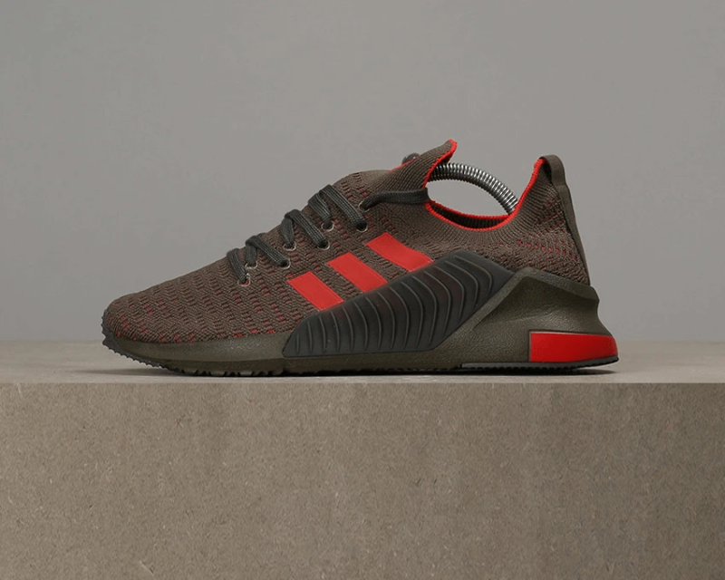 official photos 707a5 3ce72 Details about Adidas Climacool 02/17 Primeknit - Branch / Red / Cinder