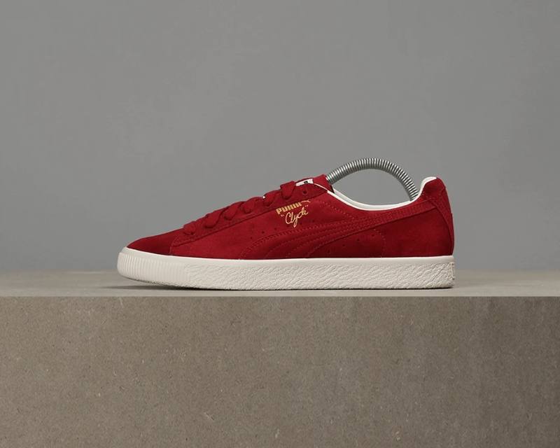 premium selection b2d82 2c10d Details about Puma Clyde From The Archive - Red Dahlia