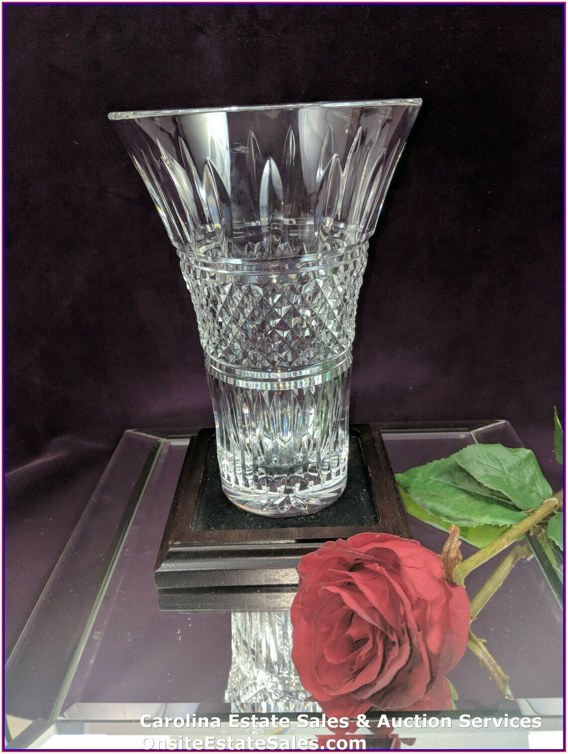 eBay & Details about Waterford Crystal Flower Vase Approx 8\