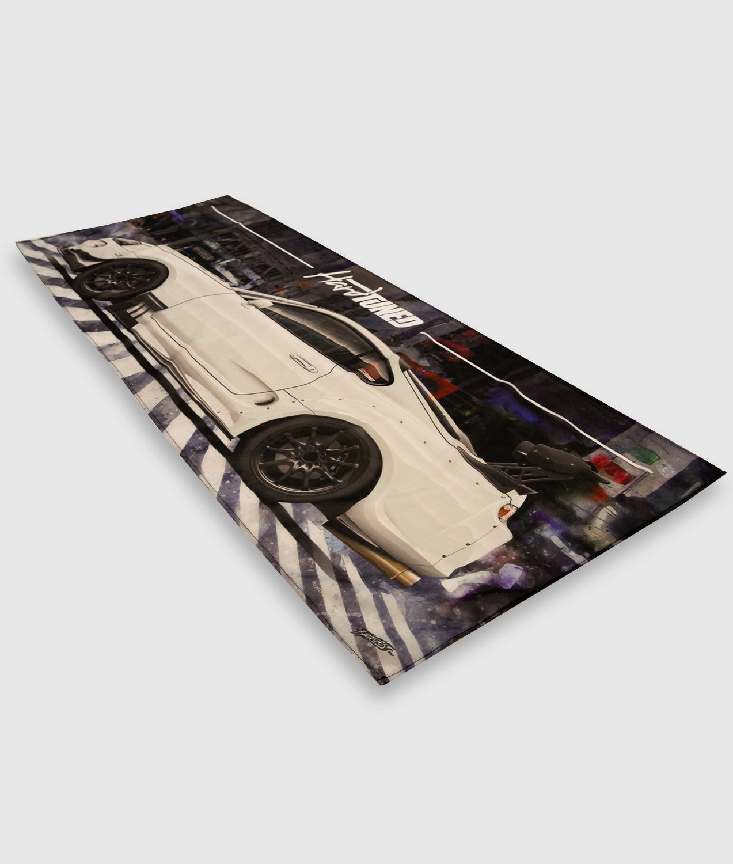 Toyota Supra MKIV TRD JDM Race Car Drift Workshop Flag