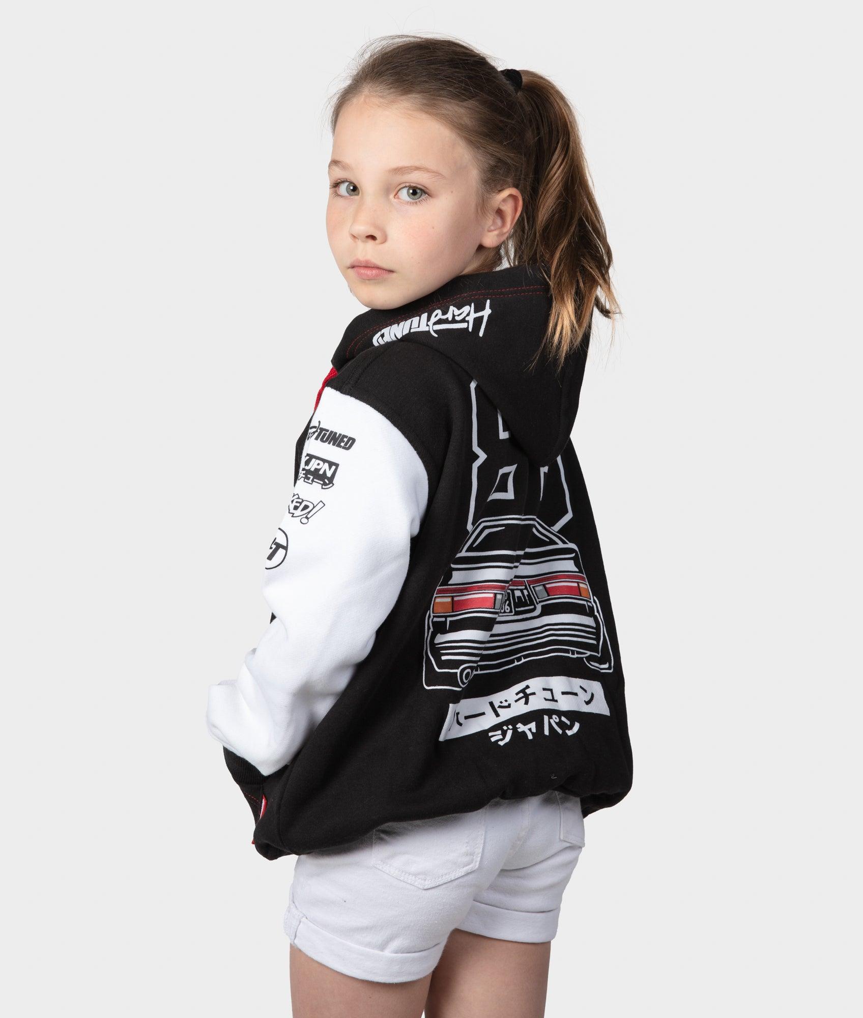 Kids Toyota Supra Children JDM Drift Race Pullover Hoodie
