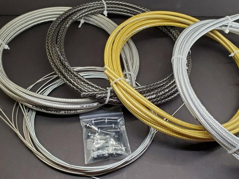 2 cables terminals for Bike 20-24-26 Fat Bike Brake kit Brown Sheath