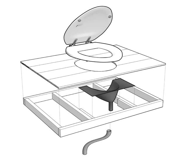 Разделитель урины для компостного биотуалета