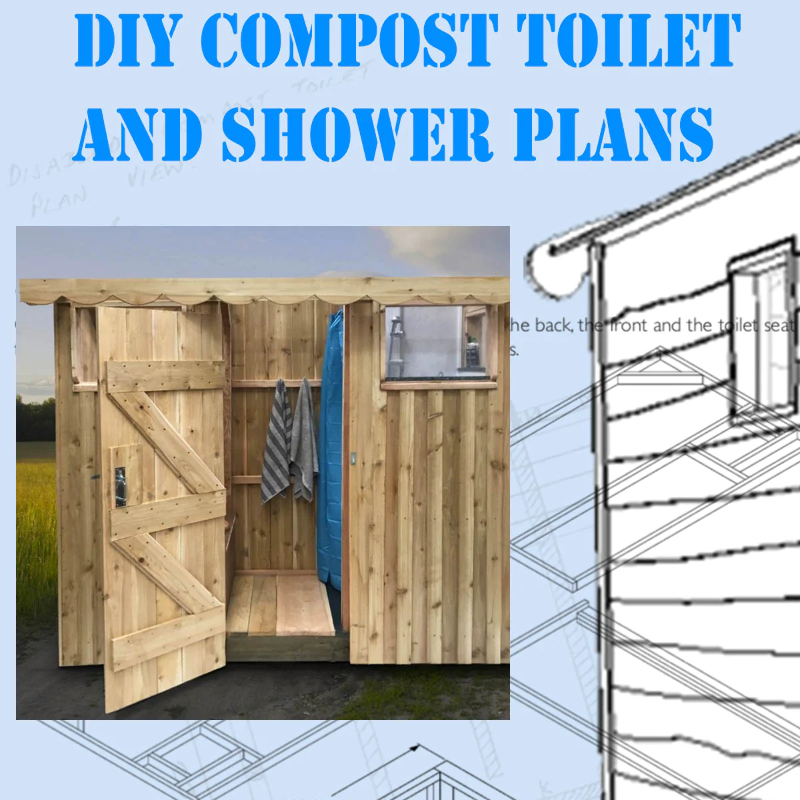 Diy Compost Toilet And Shower Plans Ebay