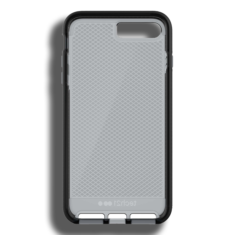 best service 2dfce 624aa Details about Tech21 Evo Check Case for iPhone 7 Plus / 8 Plus -  Smokey/Black
