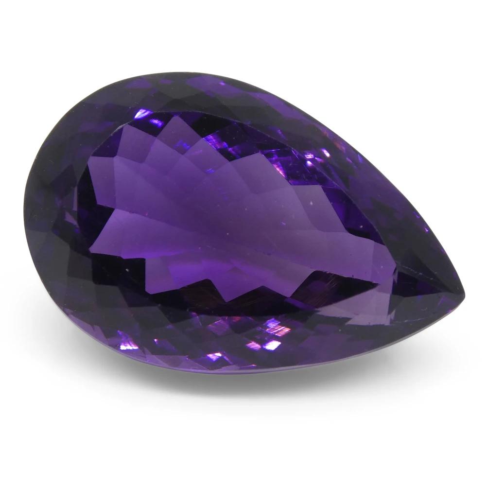 Romantic 13x18mm 19.31ct 5A Emerald Purple Amethyst Diamonds Cut VVS Loose Gems