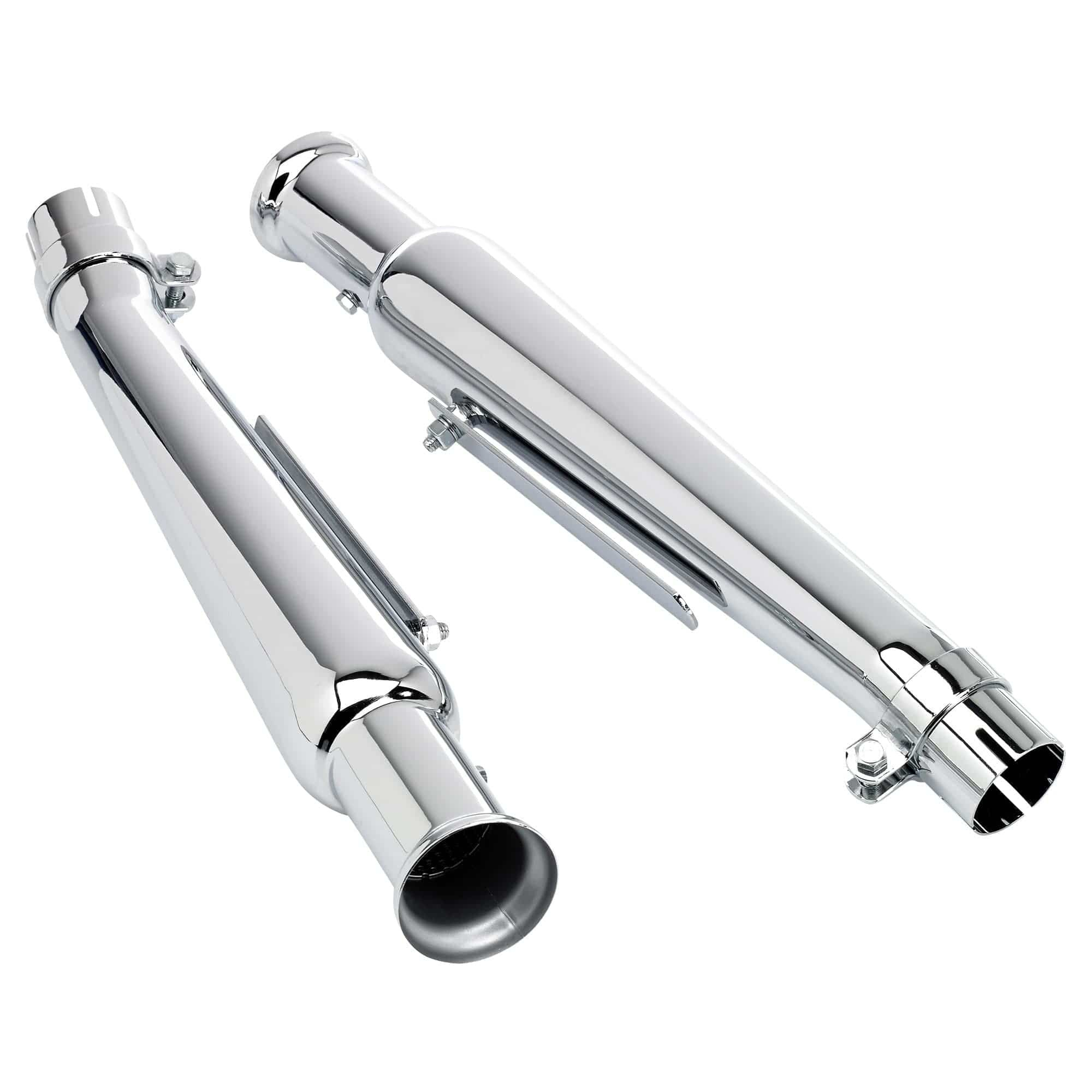 "Chrome 3-1//2/"" Muffler Hanger Clamp Set for Harley Exhaust Systems"