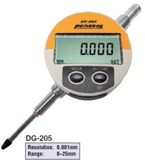 Model # DG-205 - DIGITAL INDICATOR 25 x 0.001 mm