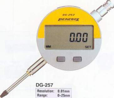 Model # DG-257 - DIGITAL INDICATOR 25 x 0.01 mm