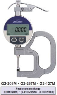 Model # G2-205M - DIGITAL THICKNESS GAUGE Thickness G Micro (0.001 mm)