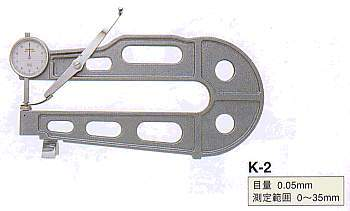 Model # K-2 - DIAL SHEET GAUGE 0.01 x 35 x 300 mm Throat depth 20 mm  flat contact and anvil.