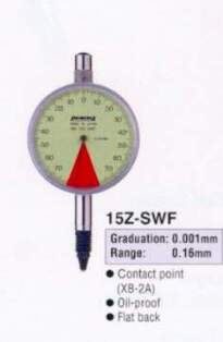 Model # 15Z-SWF - ONE REVOLUTION DIAL GAUGE Range 0.08 mm with XB-2A GB-3AZ oil-proof type