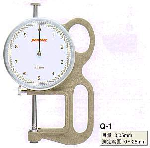 Model # Q1 - DIAL SWIFT GAUGE 0.05 x 25 mm 5.5 mm  Contact Point & Anvil. Push Down mechanism.