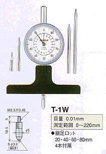 Model # T-1W - DIAL DEPTH GAUGE 0.01 x 220 mm with 207WF-T