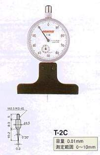 Model # T-2C - DIAL DEPTH GAUGE 0.01 x 10 mm with Contact Point XT-2C
