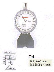 Model # T-4 - DIAL DEPTH GAUGE 0.001 x 1 mm with Contact Point XT-4