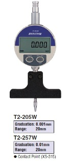 Model # T2-205W - DIGITAL DEPTH GAUGE 0.001 x 20 mm with DG-205 Digital indicator.