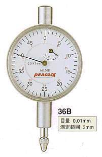 Model # 36B - DIAL GAUGE 0.01 mm x 3 mm Miniature
