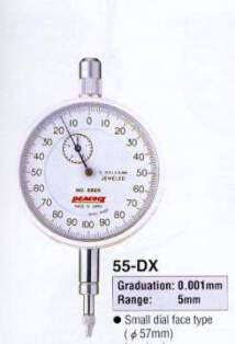 Model # 55-DX - DIAL GAUGE 0.001 x 5 mm Heavy duty Spindle