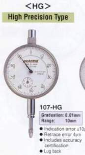 Model # 107-HG - DIAL GAUGE 0.01 x 10 mm High Accuracy