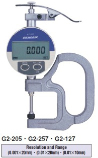 Model # G2-157 - DIGITAL THICKNESS GAUGE Thickness (0.01 mm)