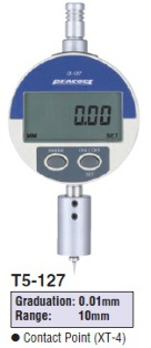 Model # T5-127 - DIGITAL DEPTH GAUGE 0.01 x 10 mm with DG-127 Digital indicator.