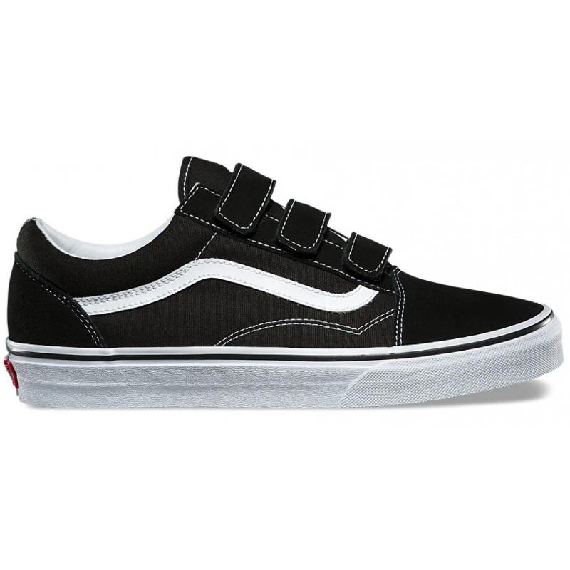 Details about Vans Old Skool V Black True White