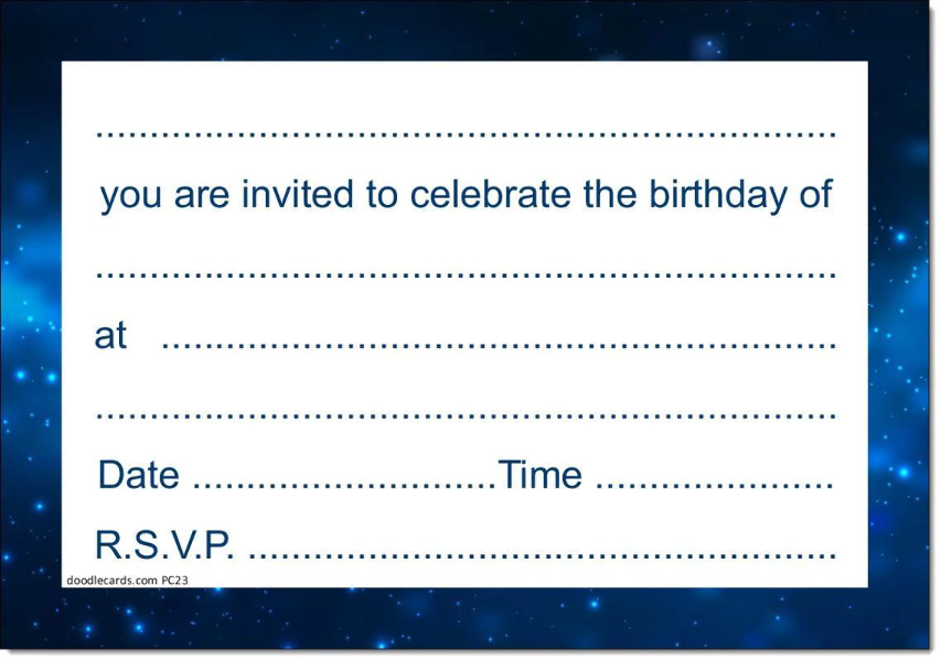 16th Birthday Party Invitations Age 16 Male Men Boys Pack Of 20 Invites