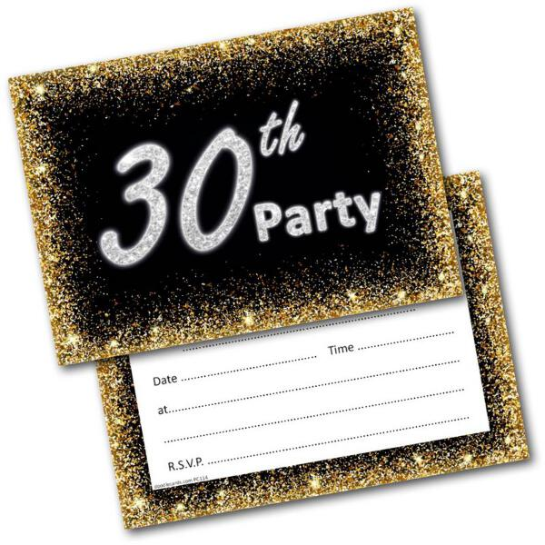 30th birthday party invitations age 30 male mens female womens pack