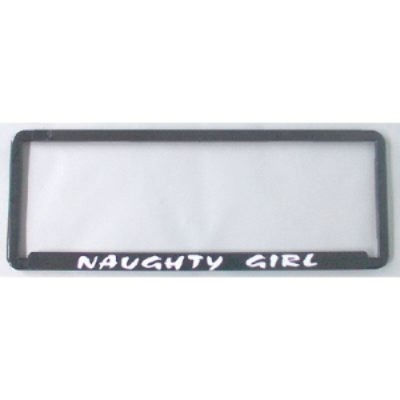 NAUGHTY GIRL NUMBER PLATE SURROUND FRAME