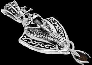 Jewelry - Sterling Silver King Cobra Snake Tribal Pendants P226