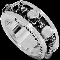 Gothic Jewellery - .925 Sterling Silver Stacking Skull Rings R191