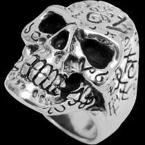 Gothic Jewellery - .925 Sterling Silver Tattoo Skull Rings R241