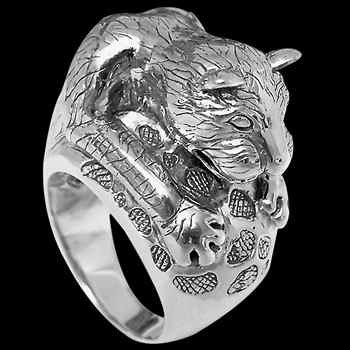 Gothic Jewellery - .925 Sterling Silver Rings R6081 - Wild Cat Rings