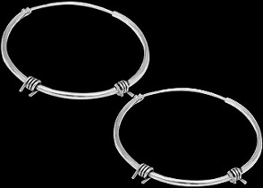 Sterling Silver Earrings E1735 - .925 Hoop Earrings