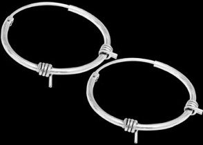 Sterling Silver Earrings E1737 - .925 Hoop Earrings