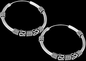 Sterling Silver Earrings E4165 - .925 Hoop Earrings